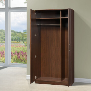 B370 Wardrobe Open Door Riverside